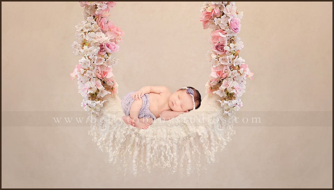 Houston Floral Newborn Photography